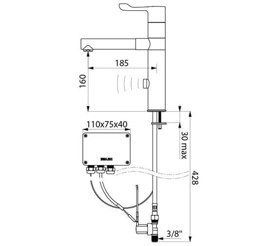 Technical drawing QS-V96381 / 20870T1