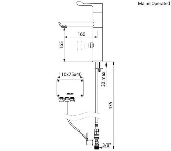 Technical drawing QS-V96382 / 20164T1