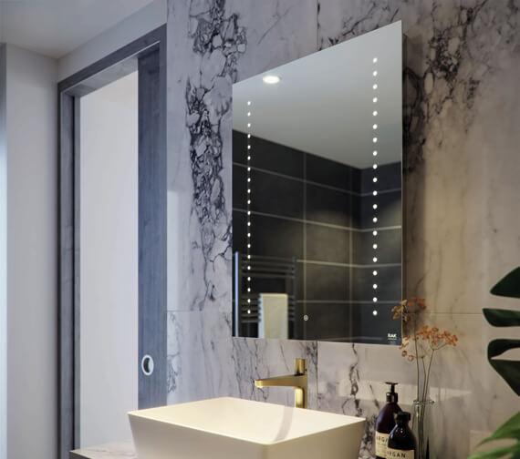 RAK Hestia LED Illuminated Portrait Mirror With Touch Sensor Switch