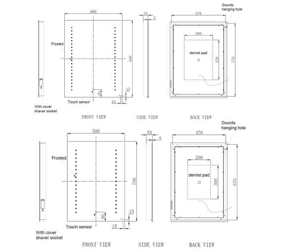 Technical drawing QS-V103360 / RAKHES5001