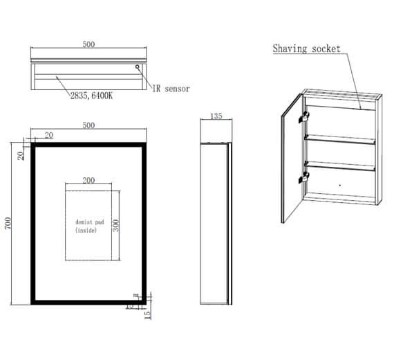 Technical drawing QS-V103362 / RAKPSC5001