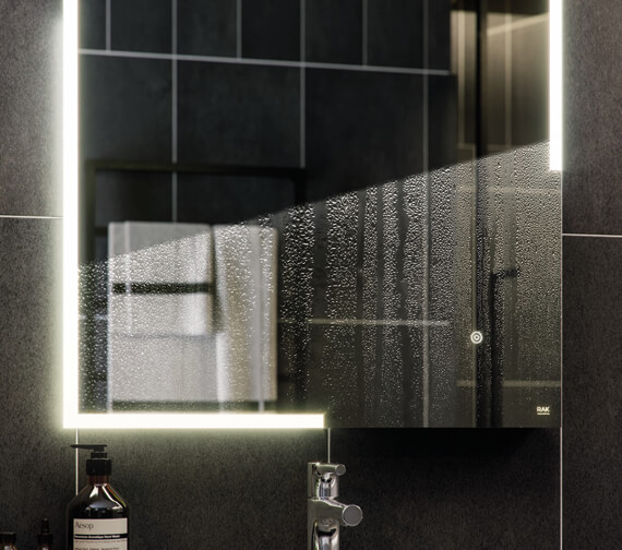Alternate image of RAK Pluto 600 x 800mm LED Illuminated Portrait Mirror With Touch Sensor Switch