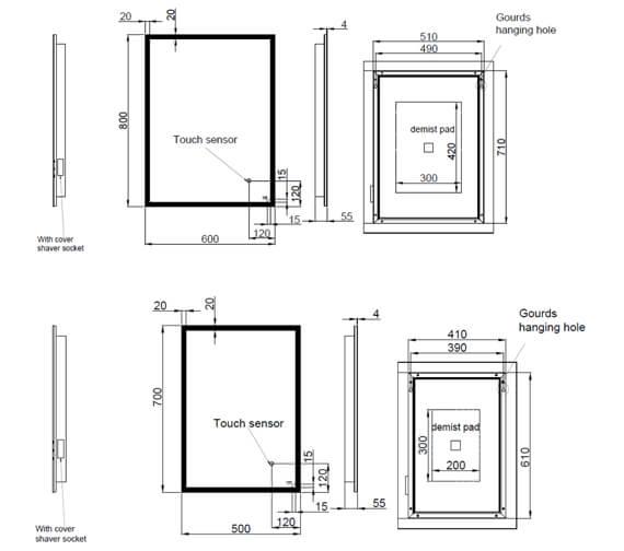 Technical drawing QS-V103354 / RAKCUP5001