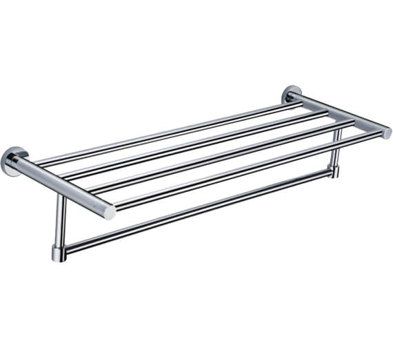 RAK Sphere Chrome Towel Shelf 600mm Wide