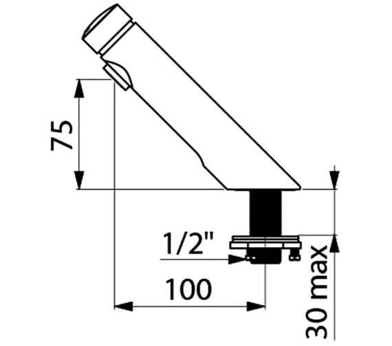 Technical drawing QS-V96386 / 740500