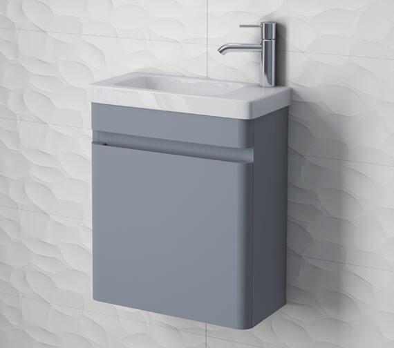RAK Resort Wall Hung 450mm Wide Cloakroom Vanity Unit With Basin