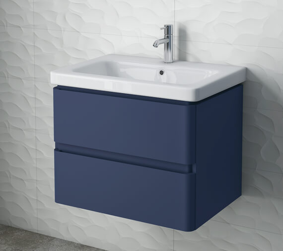 RAK Resort 650mm Wide Wall Hung 2-Drawer Vanity Unit With Basin