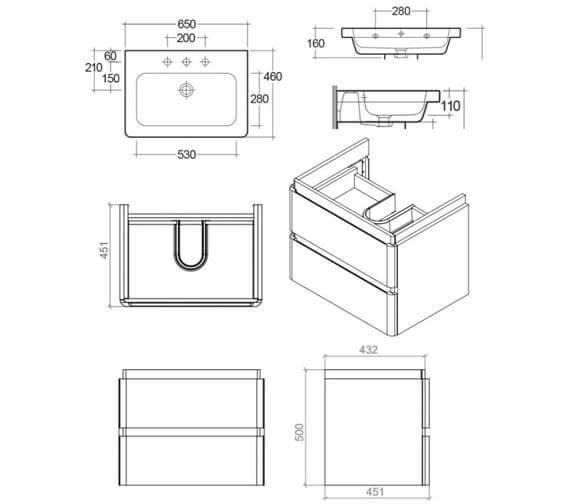 Technical drawing QS-V103370 / RAKRSTWBU65600