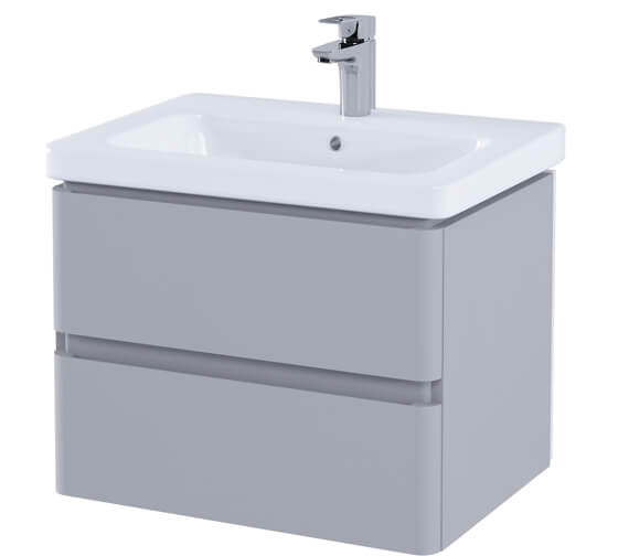 Additional image of RAK Resort 650mm Wide Wall Hung 2-Drawer Vanity Unit With Basin