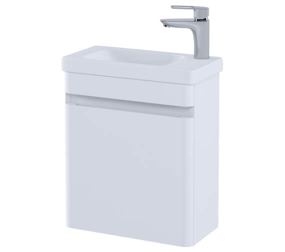 Alternate image of RAK Resort Wall Hung 450mm Wide Cloakroom Vanity Unit With Basin