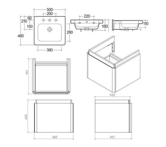 Technical drawing QS-V103371 / RAKRSTWBU50600