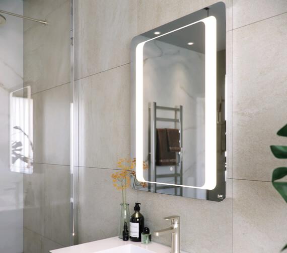 RAK Tanzanite 600 x 800mm LED Illuminated Mirror With Demister And Touch Sensor Switch