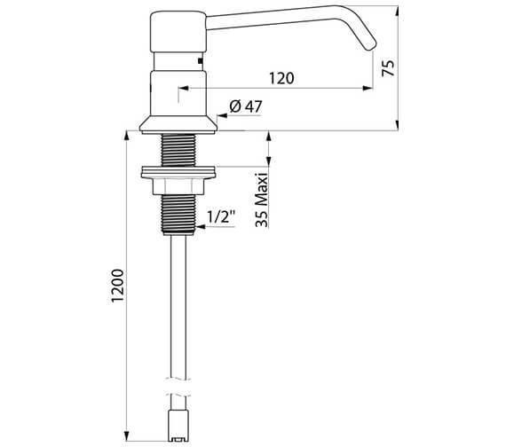 Technical drawing QS-V96392 / 729112