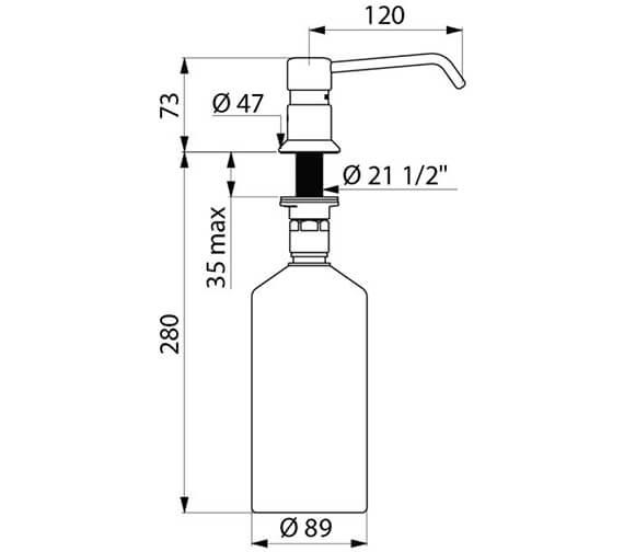 Additional image of Delabie Deck Mounted Curved Spout Liquid Soap Dispenser