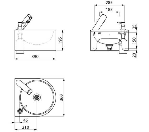 Technical drawing QS-V96396 / 18431015