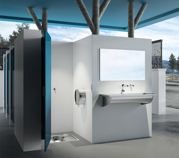 Delabie Liquid Soap Dispenser For Cross Wall Installation