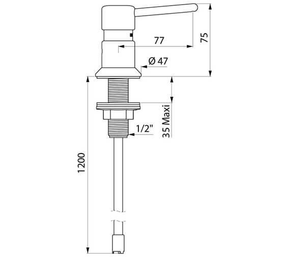 Technical drawing QS-V96391 / 729108