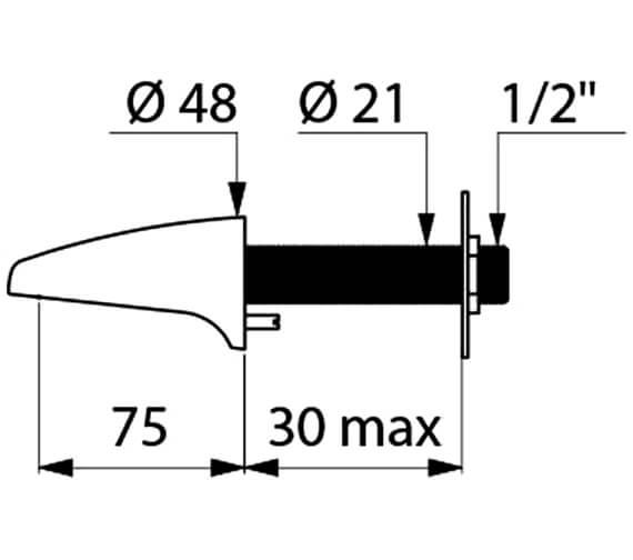 Technical drawing QS-V96405 / 942040
