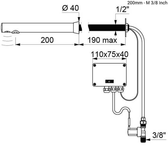 Technical drawing QS-V96408 / 379D13