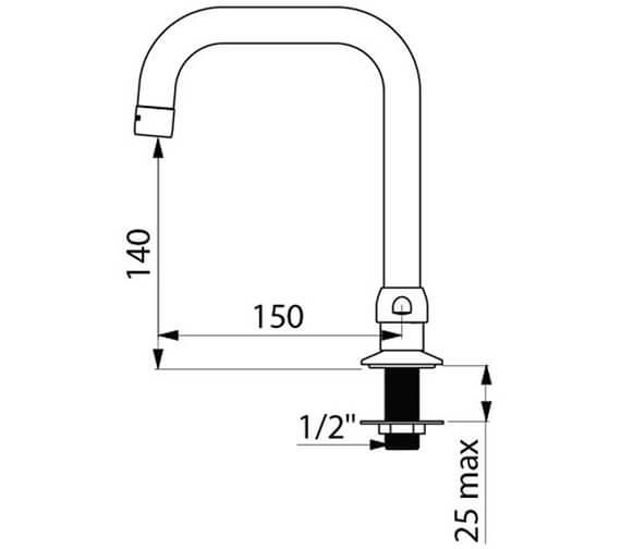 Technical drawing QS-V96401 / 1306T1