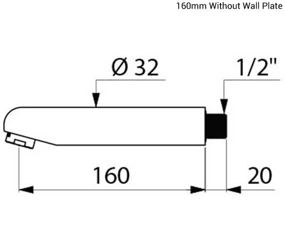 Additional image of Delabie Wall Mounted Fixed Spout