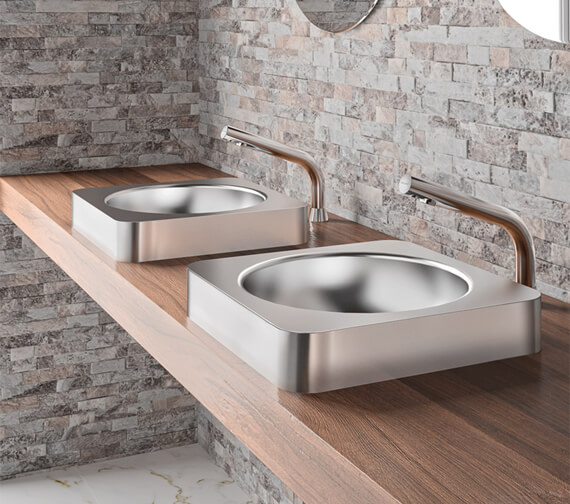 Delabie Binoptic Mix Deck Mounted Electronic Mixer Tap