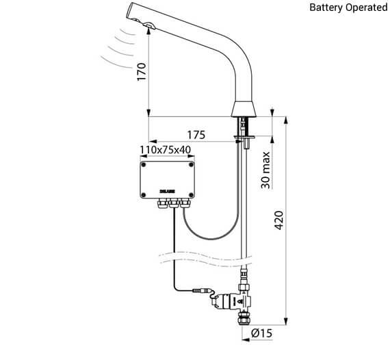 Technical drawing QS-V96414 / 38801515