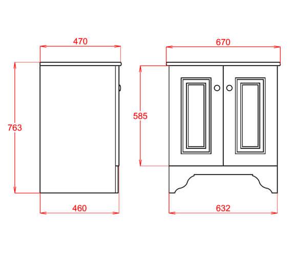Technical drawing QS-V98145 / SILGRE37WHIBL