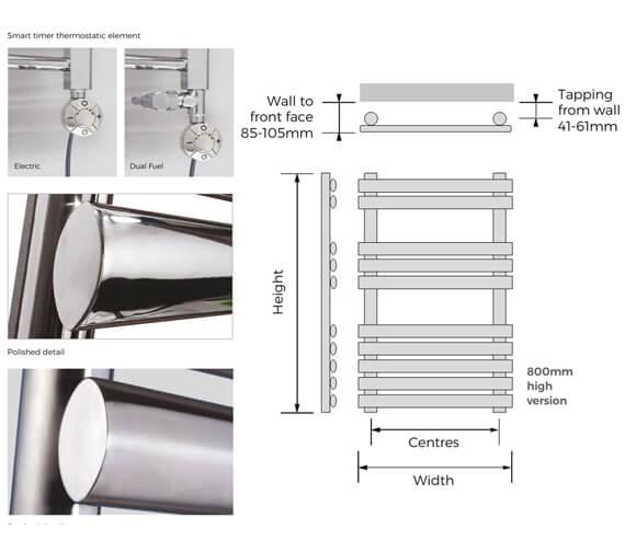 Technical drawing QS-V93100 / PAP-120-H-50