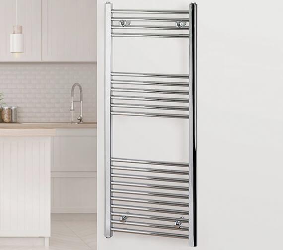 MHS Rads 2 Rails Aldgate Straight Towel Rail - Central Heating - Dual Fuel - Electric