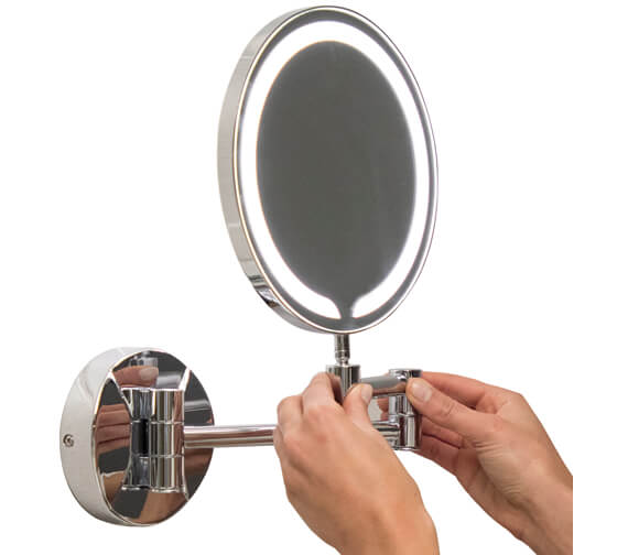 Harrison Bathrooms 200mm Round Led Make Up Mirror