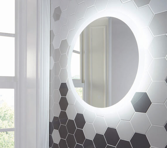 Harrison Bathrooms Lunar LED Mirror With Demister Pad