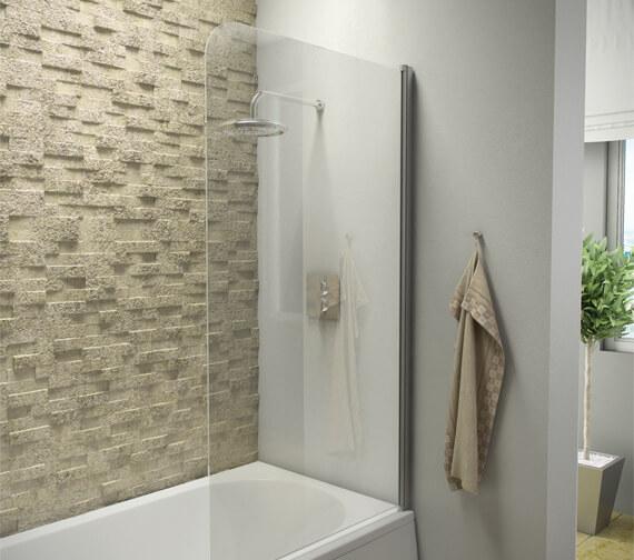 Harrison Bathrooms A6 1400 x 800mm 6mm Thick Bath Screen