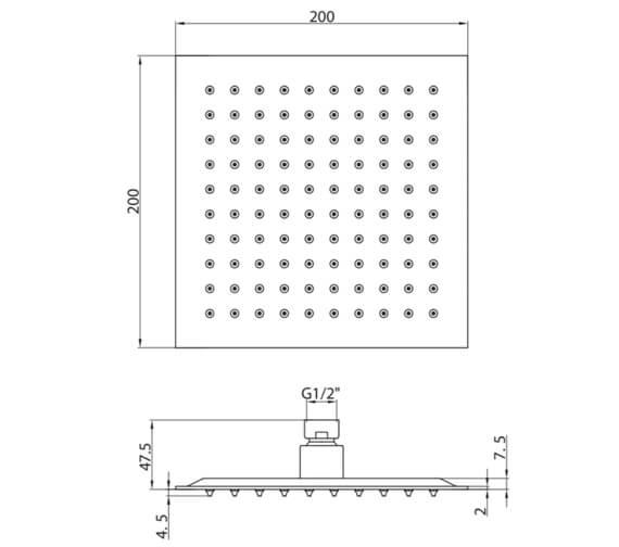Technical drawing QS-V102609 / SQ003