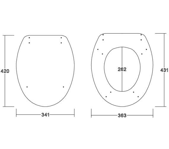 Technical drawing QS-V102822 / TOILETEAT001