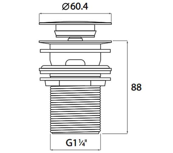 Technical drawing QS-V102824 / BASWASTE05