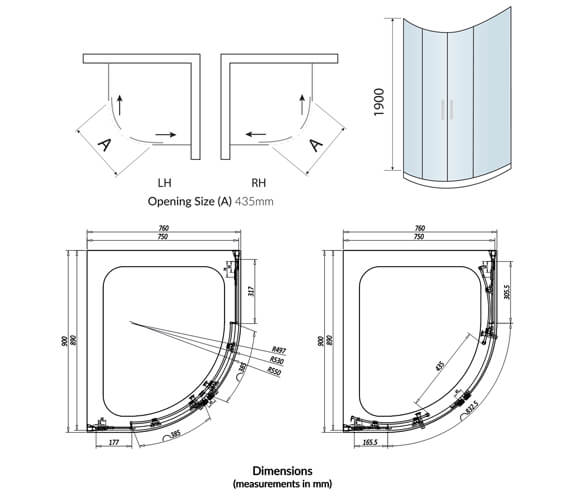 Technical drawing QS-V102741 / A8SHOWER03