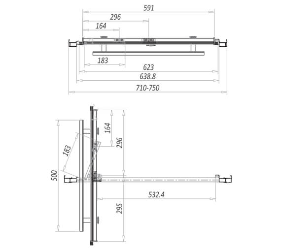 Technical drawing QS-V104051 / A8SHOWER24