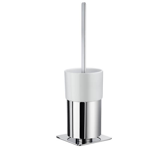 Smedbo Outline Free Standing Toilet Brush Holder With Porcelain Container
