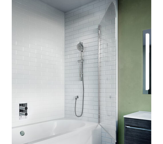 Crosswater Kai 6 Single Hinged Bath Screen