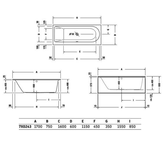 Technical drawing QS-V83468 / 760242000JS1000