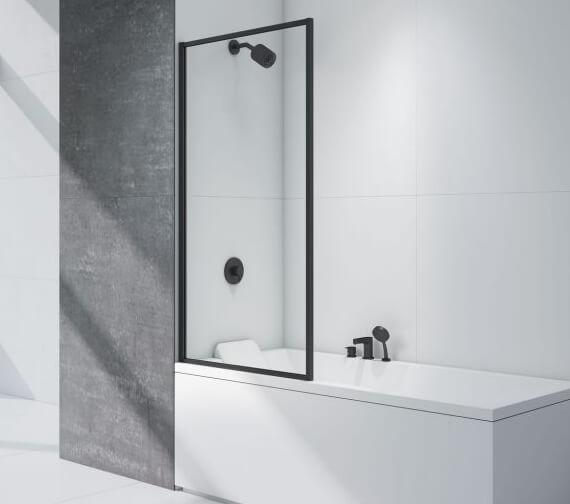 Merlyn Black Framed Bath Screen 800 x 1500mm - BLKFMB0