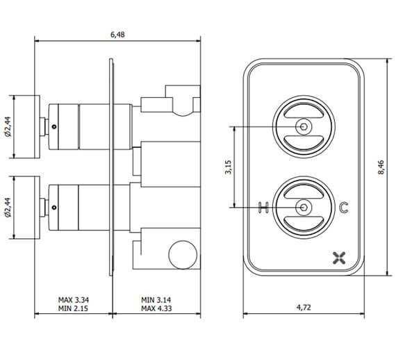 Technical drawing QS-V100381 / UB1500RC