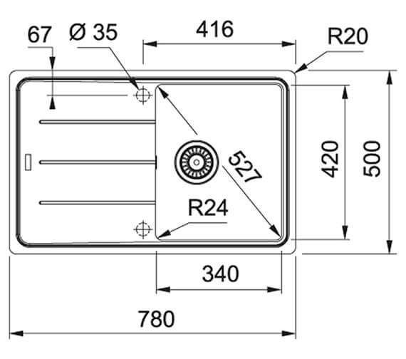 Technical drawing QS-V89543 / 114.0501.283