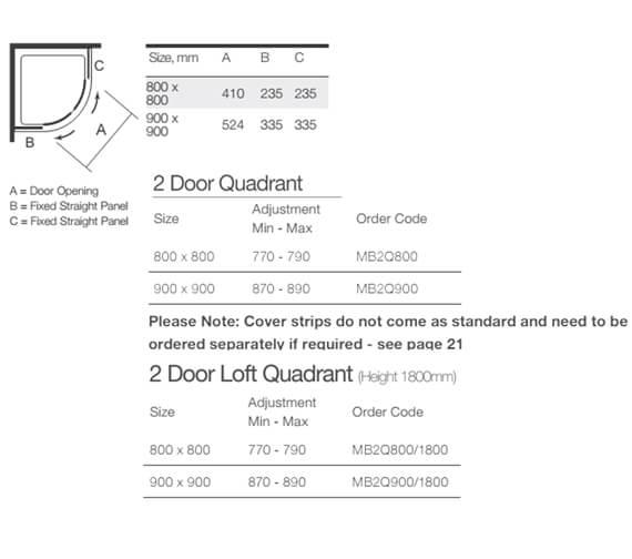 Technical drawing QS-V9352 / MB2Q800