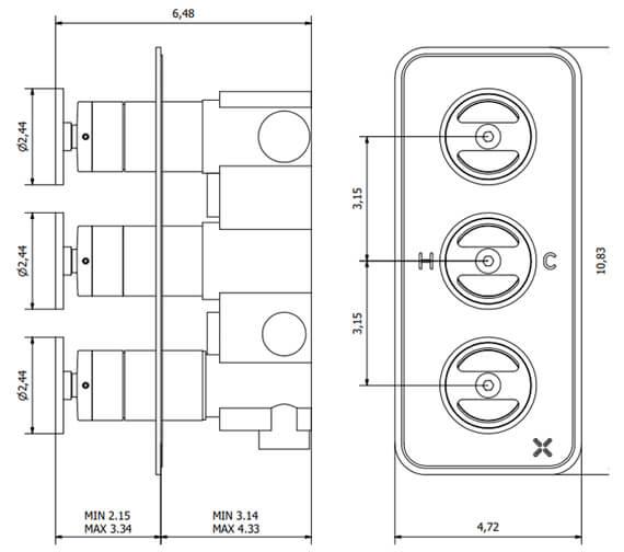 Technical drawing QS-V100382 / UB3000RC