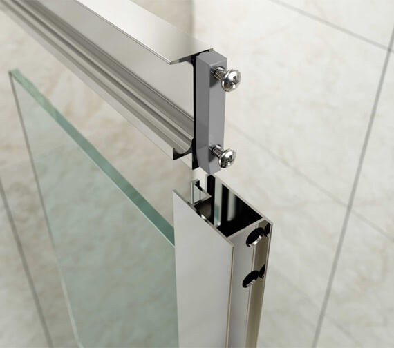 Additional image of Merlyn Mbox Loft Bi-Fold Shower Door - 4mm Clear Glass - 1800mm Height
