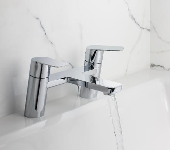 Crosswater Zero 6 Chrome Deck Mounted Bath Filler Tap