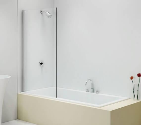 Merlyn MB12 Fixed Square Sleek Pivot Bath Screen 800 x 1400mm