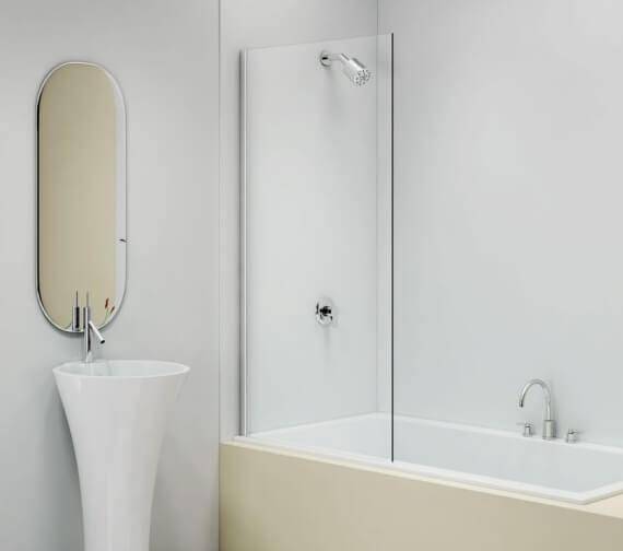 Merlyn MB14 Fixed Square Panel Bath Screen W 800 x H 1500mm